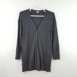 {Splendid} Gray Thermal Long Cardigan w/ Pockets L